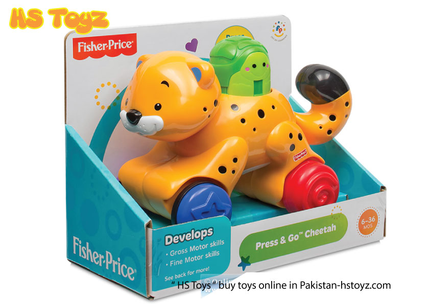 Press N Go Cheetah Fisher Price Hs Toys Pakistan